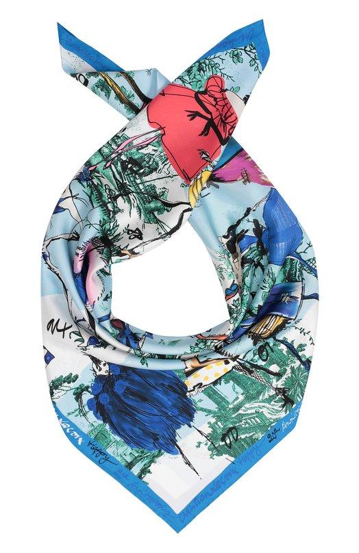 Шелковый платок с принтом Christian Lacroix 00037/7132/G570I