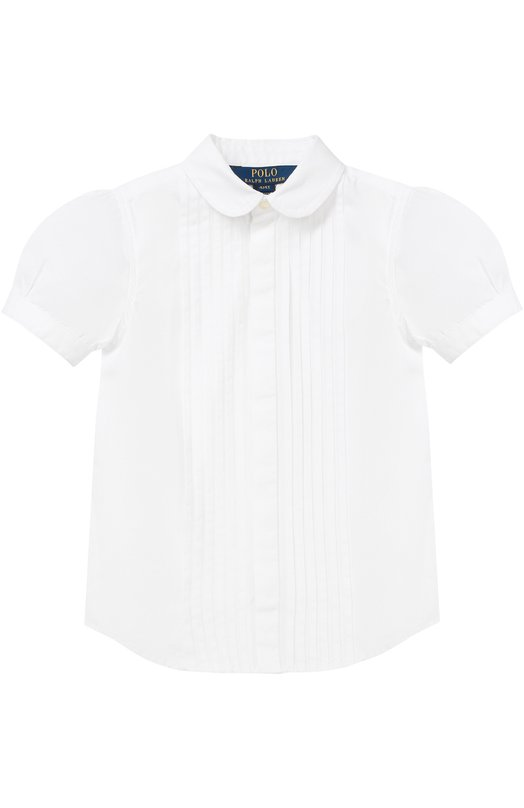 Хлопковая блуза с декором Polo Ralph Lauren S04/062F6/062F6