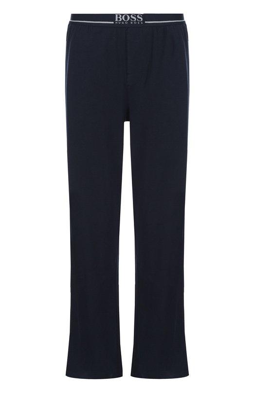 Хлопковые домашние брюки свободного кроя BOSS 50297182