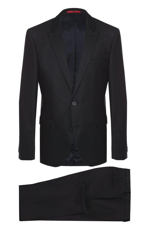 Шерстяной приталенный костюм HUGO 50313583