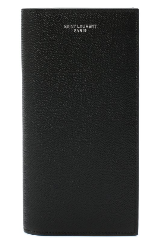 Кожаное портмоне с отделением для кредитный карт Saint Laurent 396308/BTY0N