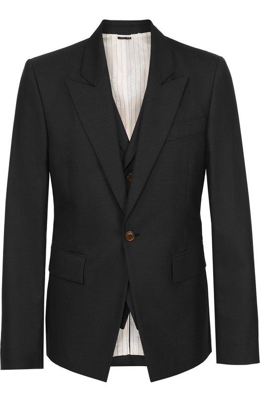 Шерстяной приталенный пиджак Vivienne Westwood S25BN0330/S45248