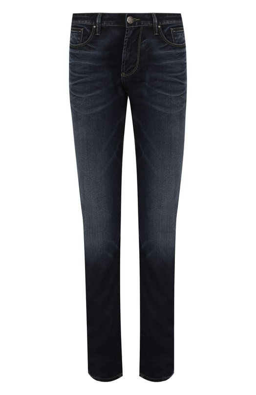 Джинсы прямого кроя с потертостями Armani Jeans 6X6J06/6D0YZ