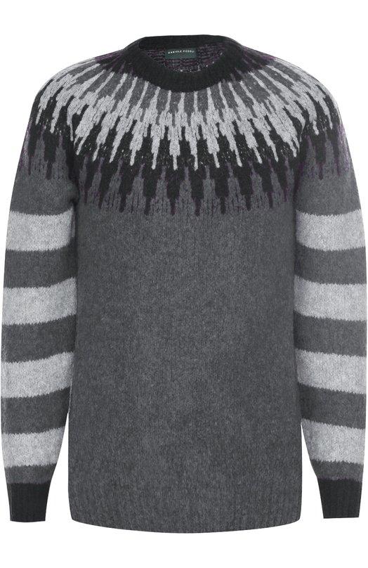 Шерстяной свитер с контрастным узором Daniele Fiesoli 5115
