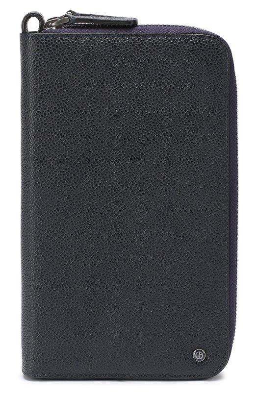 Кожаная борсетка с отделением для кредитных карт Giorgio Armani Италия 5128083 Y2R141/YBP2J  - купить со скидкой