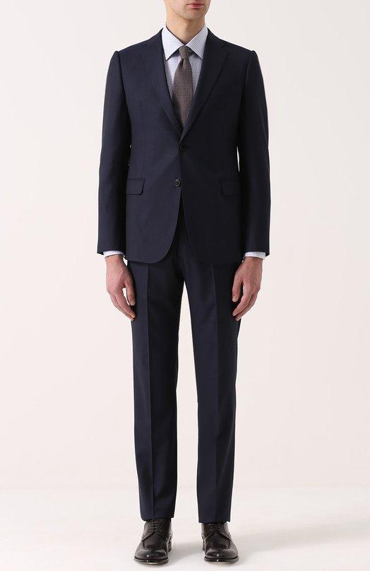Приталенный костюм из смеси шерсти и шелка Armani Collezioni VCVMEB/VC255