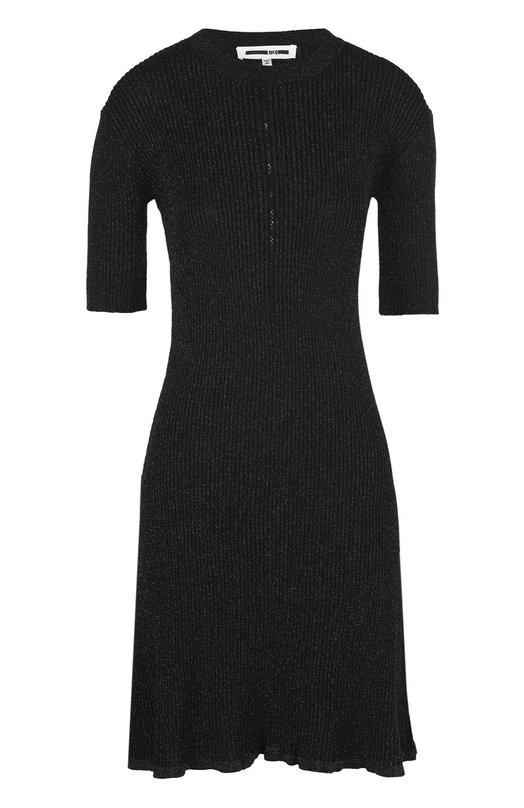 Вязаное мини-платье с коротким рукавом и металлизированной отделкой MCQ 431828/RJK05