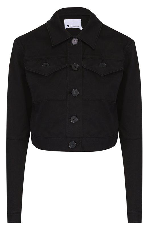 Укороченная джинсовая куртка с накладными карманами T by Alexander Wang 403504R17