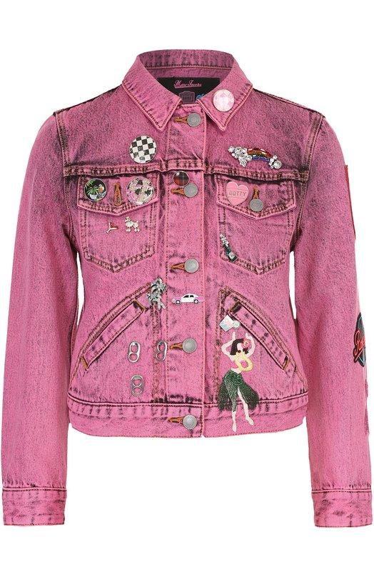 Укороченная джинсовая куртка с декоративной отделкой Marc Jacobs M4006477