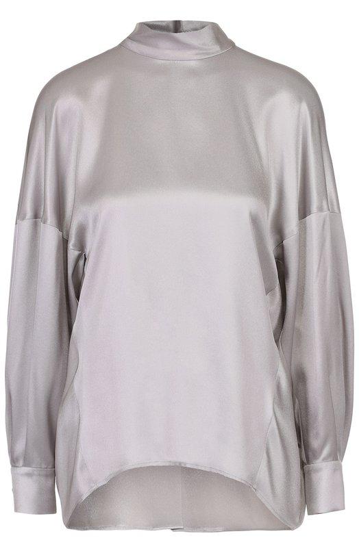 Шелковая блуза свободного кроя со спущенным рукавом Escada 5022545