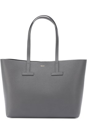Сумка Small T Tote Tom Ford серая | Фото №1