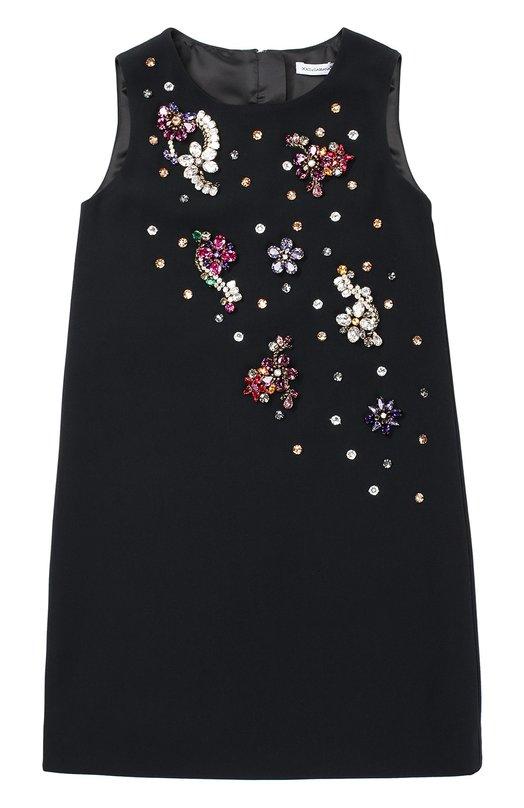 Платье без рукавов с кристаллами Dolce & Gabbana 0131/L57D39/FURDV/8-12