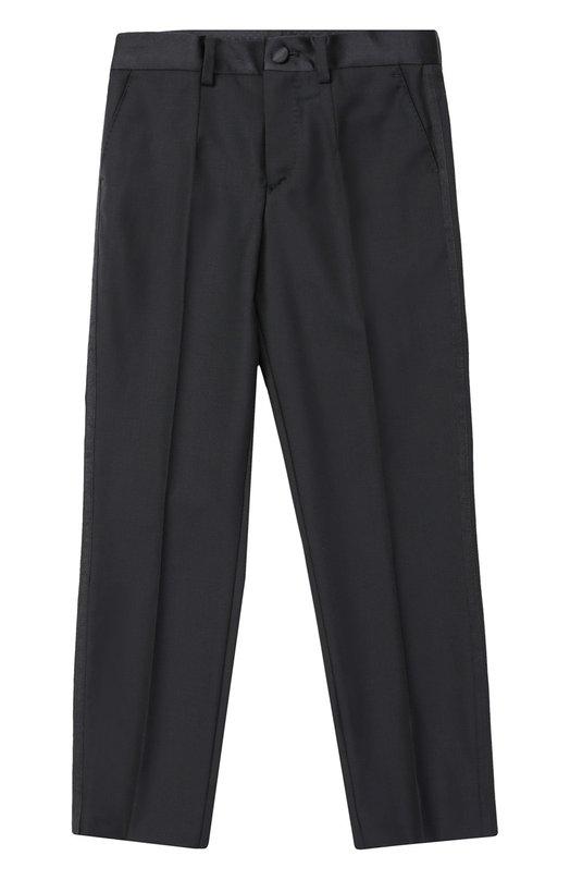Брюки прямого кроя из шерсти Dolce & Gabbana 0131/L41P64/FU2NF/2-6