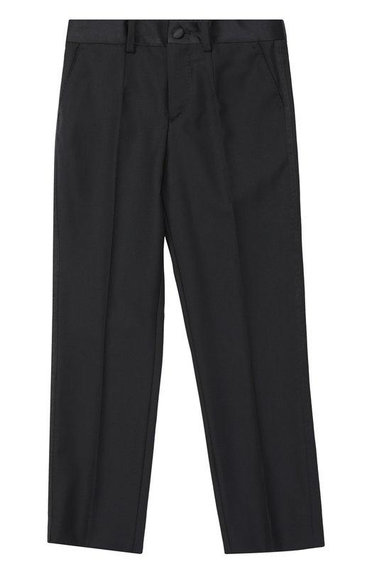 Брюки прямого кроя из шерсти Dolce & Gabbana 0131/L41P64/FU2NF/8-12