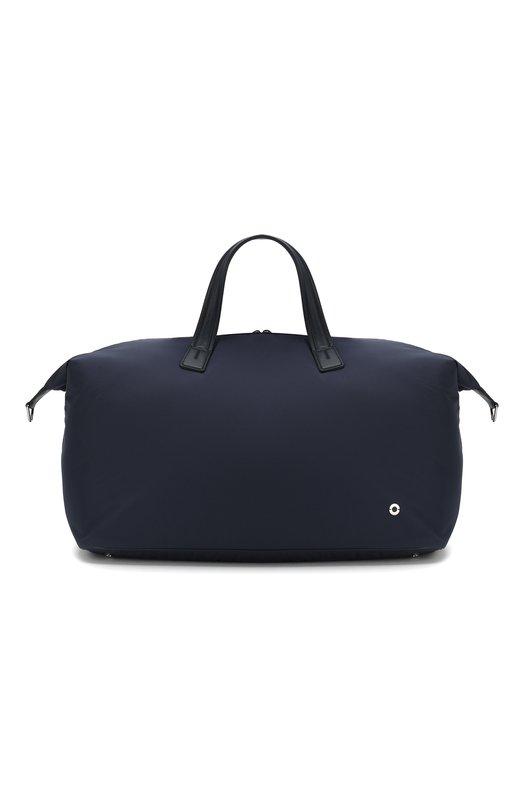 Дорожная сумка с отделкой из натуральной кожи и плечевым ремнем Loro Piana FAF6679