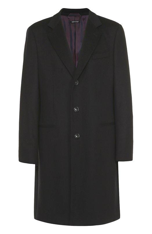 Однобортное пальто из смеси шерсти и кашемира Giorgio Armani USLG01/0S169