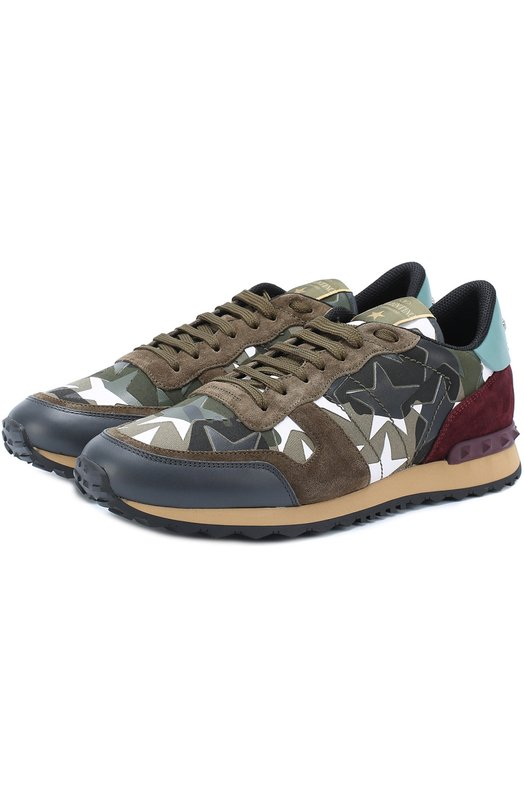 Комбинированные кроссовки Rockrunner Camustars Valentino MY2S0723/ANC