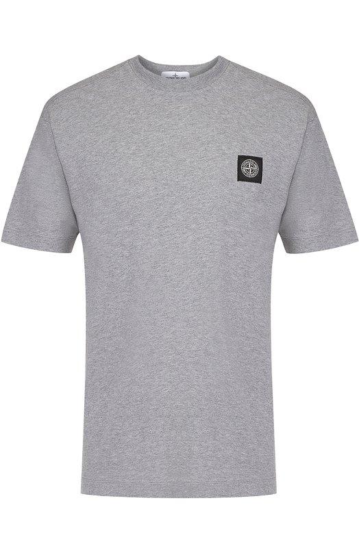 Хлопковая футболка с круглым вырезом Stone Island 661524141