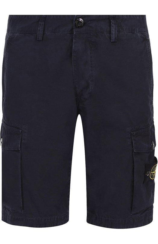 Хлопковые шорты с накладными карманами Stone Island 6615LS2WN