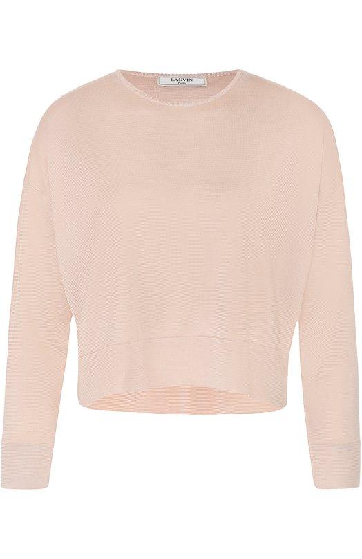 Укороченный пуловер прямого кроя с круглым вырезом Lanvin RW-T03634-MB05-P17