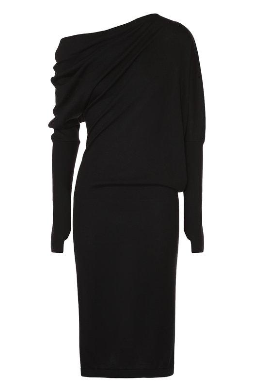 Кашемировое приталенное платье с драпировкой Tom Ford ACK145/YAX087