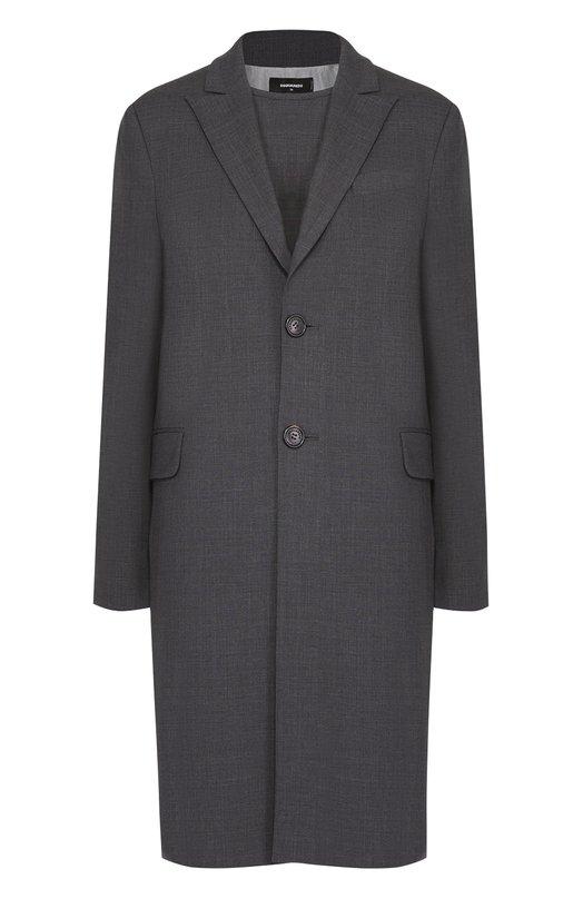 Комплект из шерстяных пальто и платья прямого кроя Dsquared2 S75FZ0020/S40320