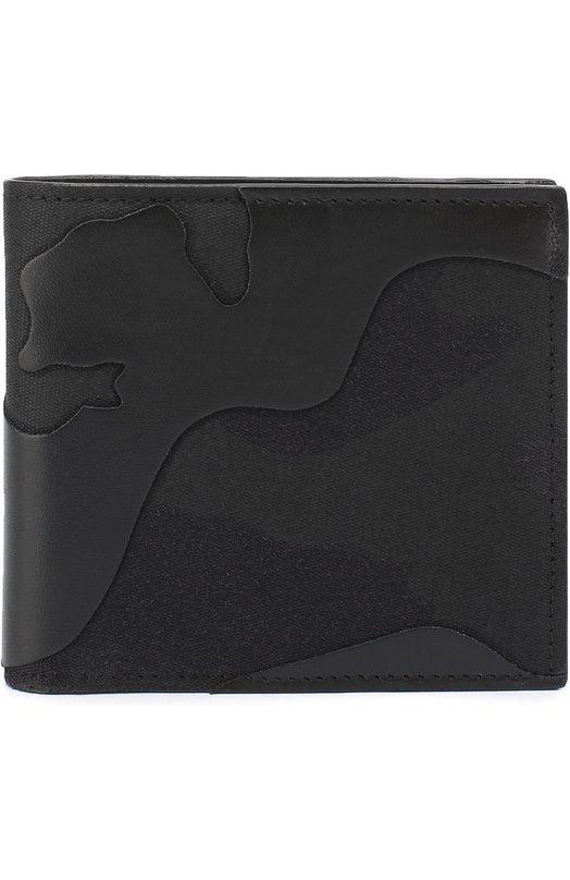 Текстильное портмоне с камуфляжным принтом и отделкой из натуральной кожи Valentino MY2P0445/TFN