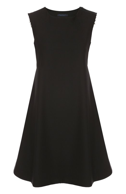 Платье свободного кроя без рукавов с круглым вырезом Yohji Yamamoto FX-D52-100
