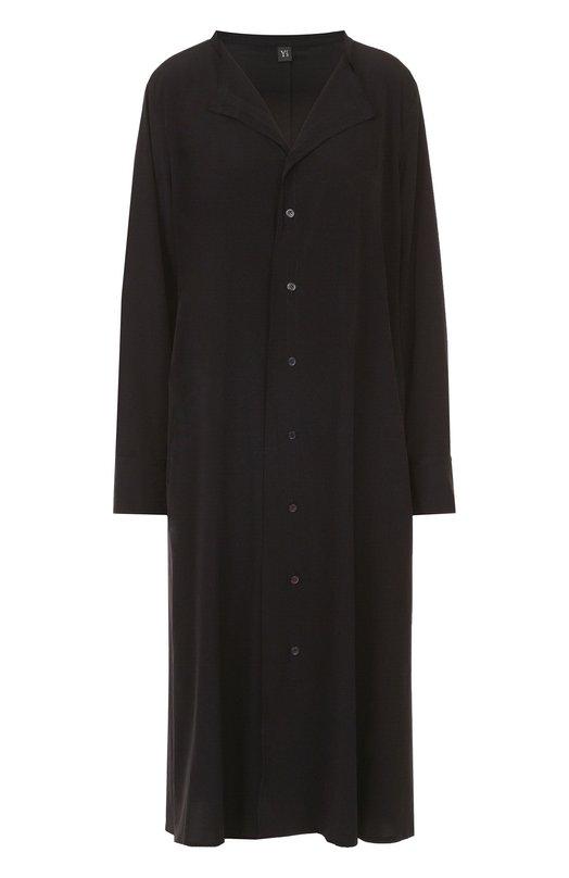 Платье-рубашка прямого кроя с отложным воротником Yohji Yamamoto YX/D01/500