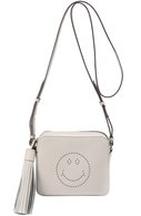 Сумка Smiley Anya Hindmarch серая | Фото №1