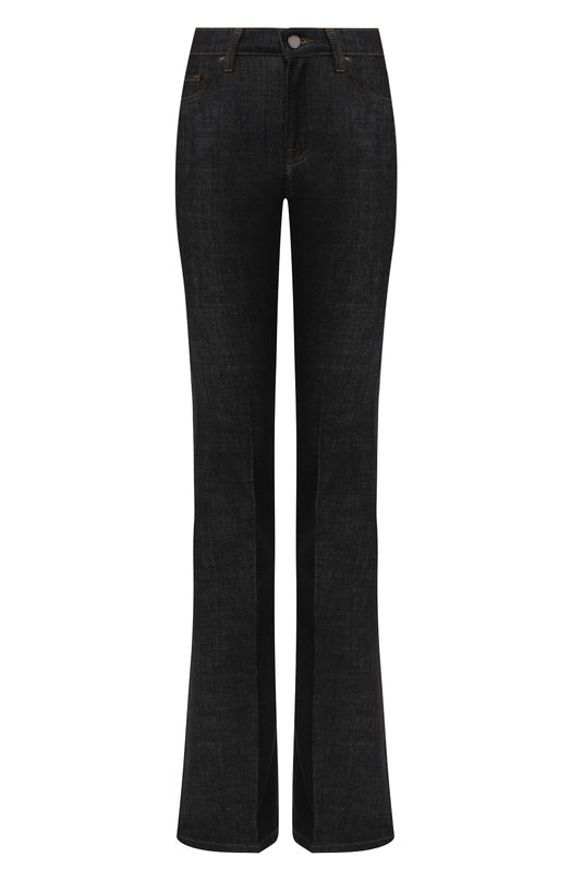 Купить Расклешенные джинсы с контрастной прострочкой Victoria, Victoria Beckham, VB108 444, Турция, Синий, Хлопок: 94%; Полиэстер: 5%; Эластан: 1%;