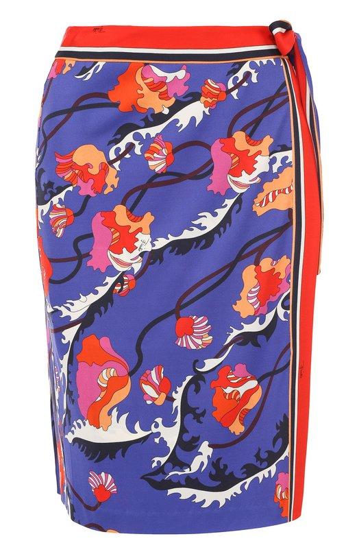 Мини-юбка с запахом и контрастным принтом Emilio Pucci 71/RV81/71755