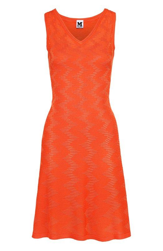 Приталенное платье фактурной вязки без рукавов M Missoni MD3KD0Z6/2D4