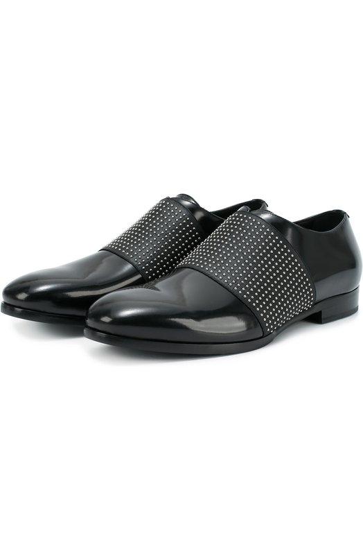 Кожаные туфли Peter с декоративной отделкой Jimmy Choo PETER/UEL
