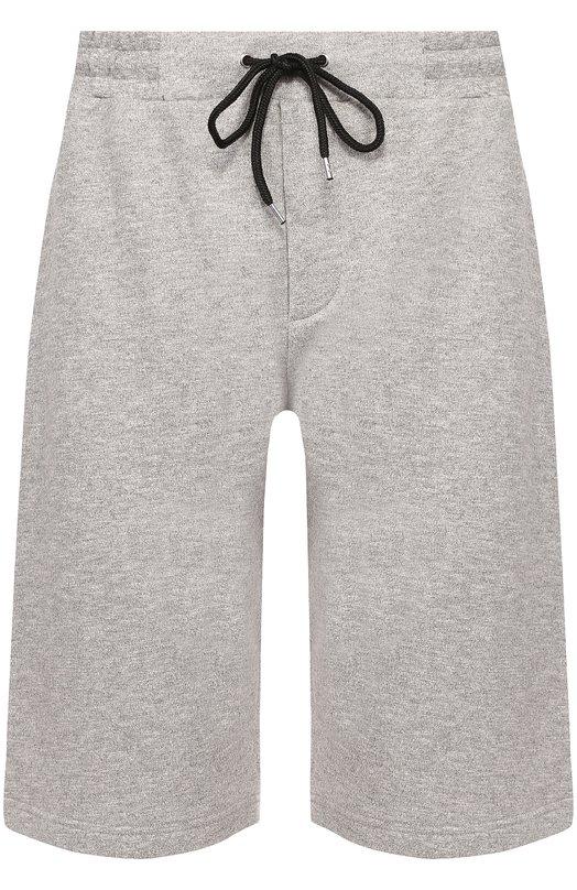 Хлопковые шорты с контрастной вышивкой MCQ 401406/RJR35
