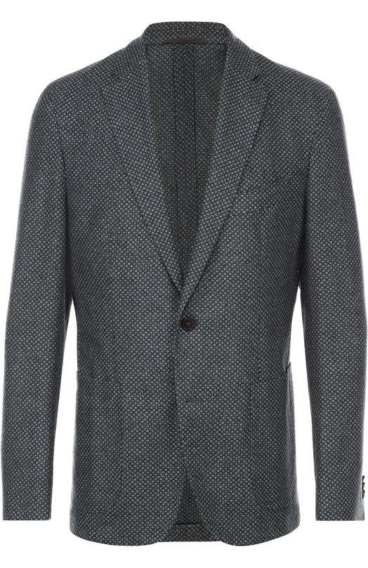 Однобортный пиджак из смеси шерсти и шелка Baldessarini 14681/7157