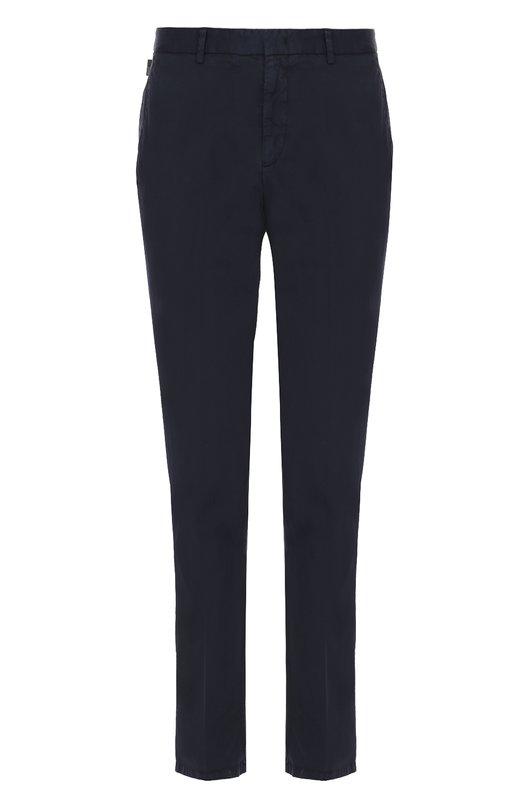 Хлопковые брюки прямого кроя Armani Collezioni UCP72S/UCS0S