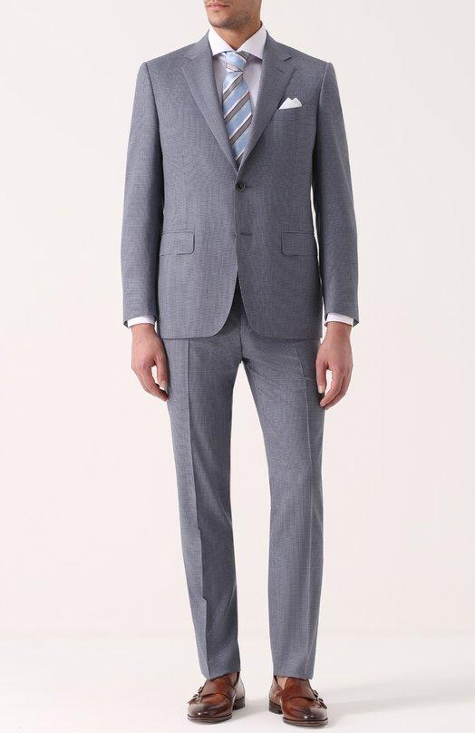 Шерстяной костюм с пиджаком на двух пуговицах Canali BF00462/11280/19