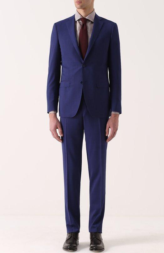 Шерстяной костюм с пиджаком на двух пуговицах Canali AA00094/19220/93