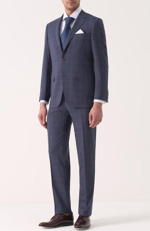 Шерстяной костюм с пиджаком на двух пуговицах Canali BF00532/13280/31