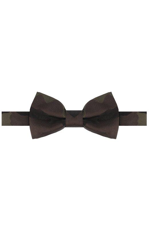 Шелковый галстук-бабочка с камуфляжным принтом Valentino MU2EW003/CJS