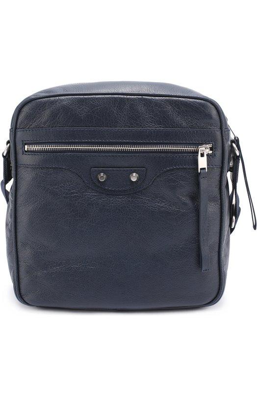 Кожаная сумка-планшет Reporter Balenciaga 390925/DFH94
