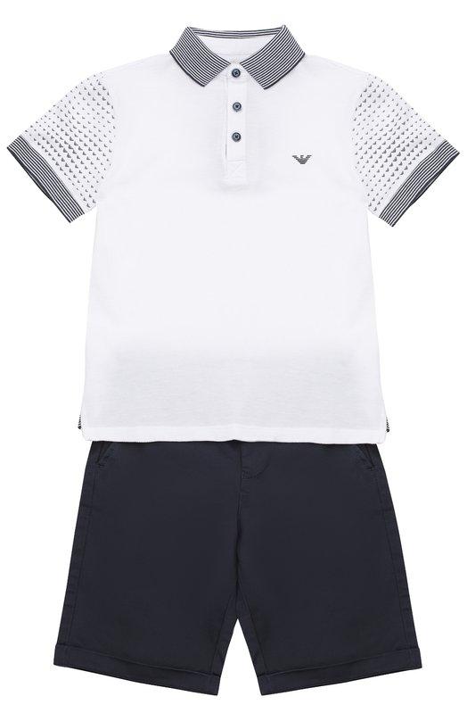 Комплект из футболки и шорт Giorgio Armani 3Y4V05/4JDGZ/4A-10A