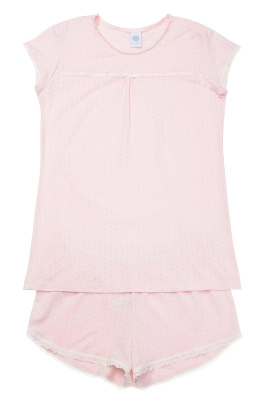 Пижама с принтом и кружевной отделкой Sanetta 243842
