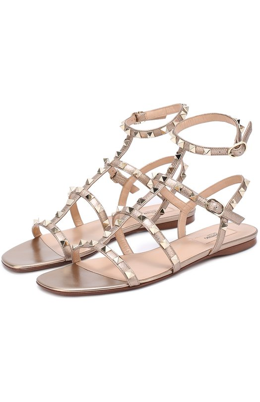 Кожаные сандалии Rockstud с ремешками Valentino MW2S0A05/VIU