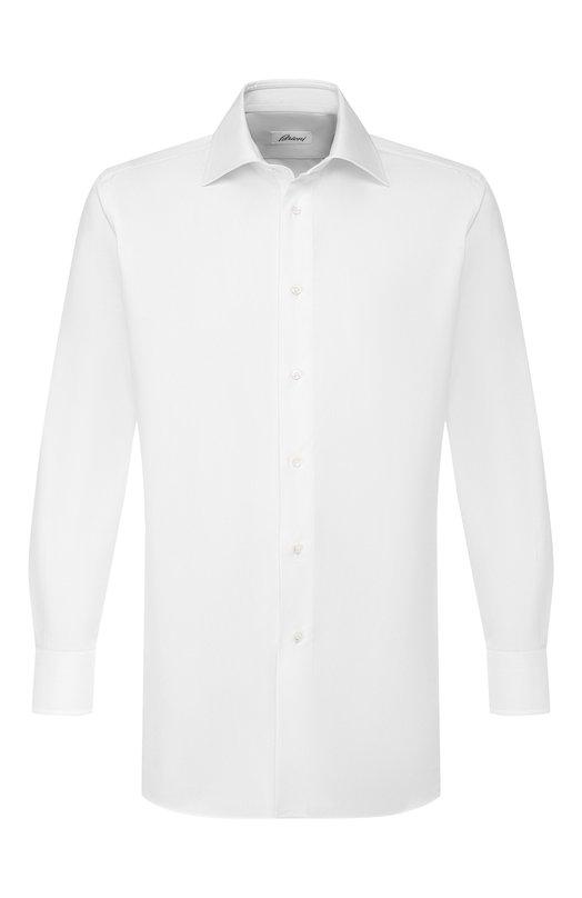 Купить Хлопковая сорочка с воротником кент Brioni, RCL9/PZ063, Италия, Белый, Хлопок: 100%;