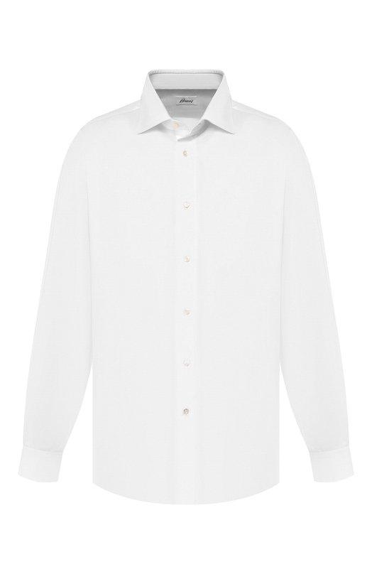 Купить Хлопковая сорочка с воротником кент Brioni, RCL4/PZ023, Италия, Белый, Хлопок: 100%;