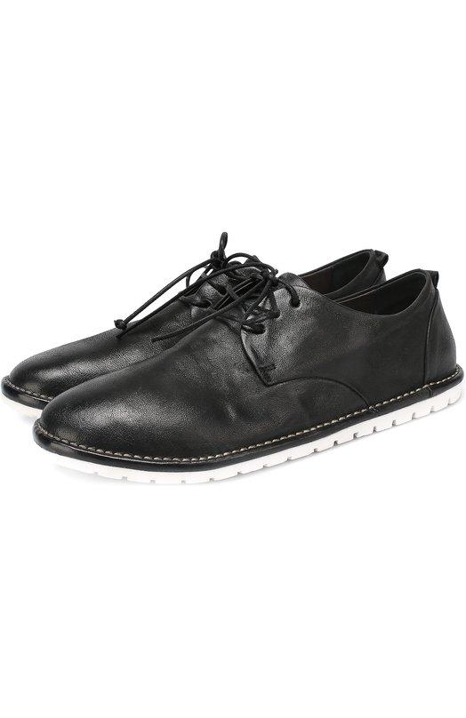 Кожаные ботинки с круглым мысом на контрастной подошве Marsell MMG002/DR0M