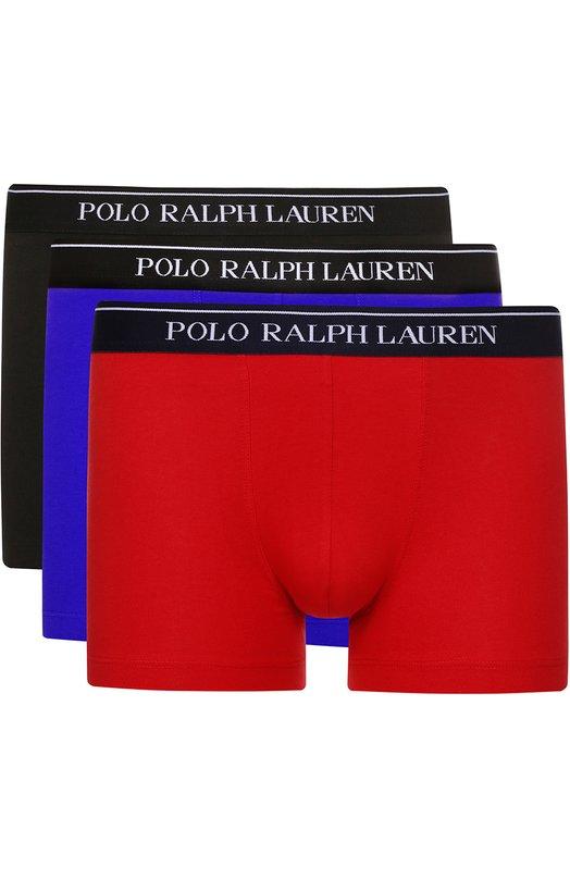 Купить Комплект из трех хлопковых боксеров с широкой резинкой Ralph Lauren Шри-Ланка 5126567 251/XZ47U/XY47U