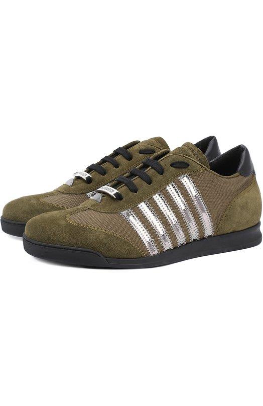 Комбинированные кроссовки New Runners с контрастной отделкой Dsquared2 S17SN419/1103
